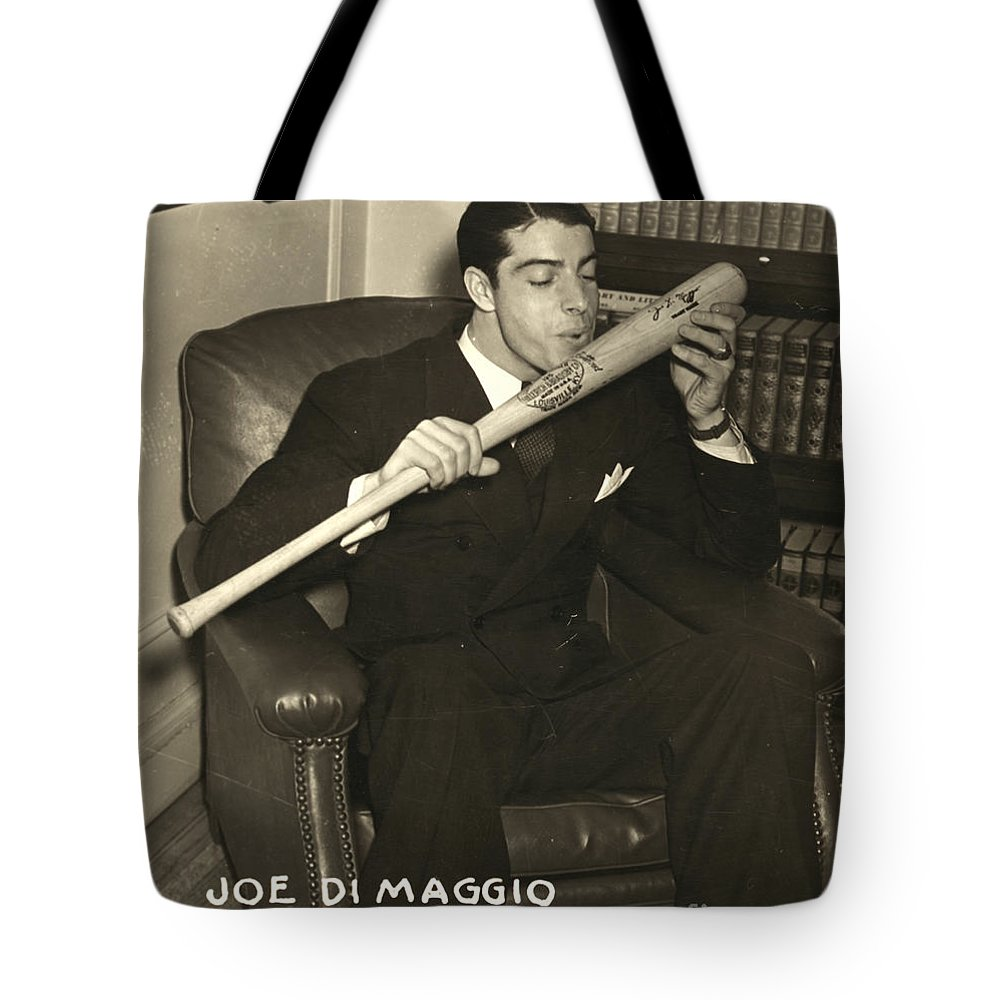 1941 Tote Bag featuring the photograph Joe Dimaggio (1914-1999) by Granger