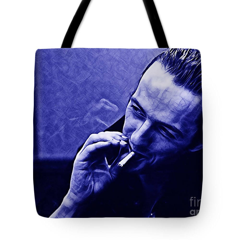 Joe Strummer Tote Bag featuring the mixed media Joe Strummer Collection by Marvin Blaine