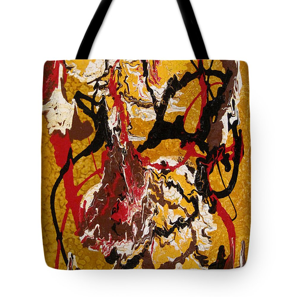 Abstract Art Tote Bag featuring the painting Joe Sweet by Jill English