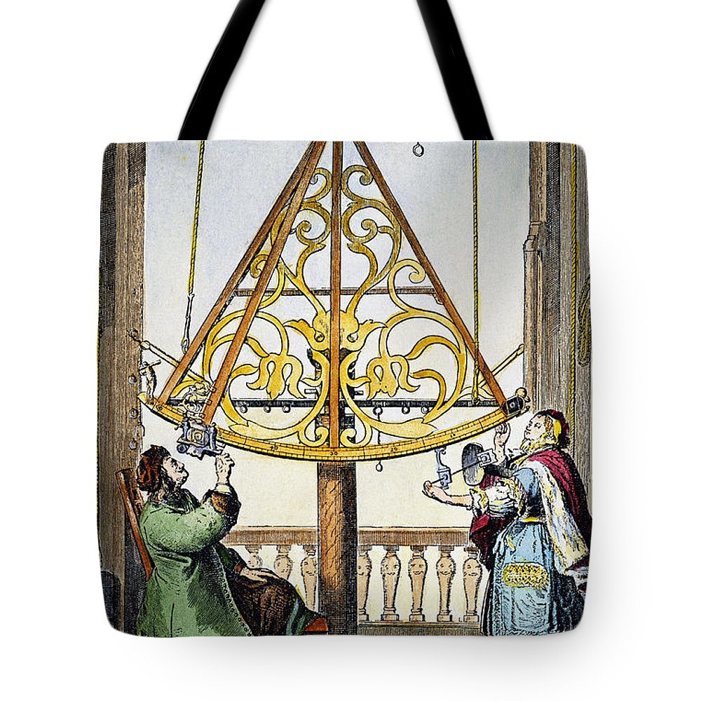1673 Tote Bag featuring the photograph Johannes Hevelius by Granger