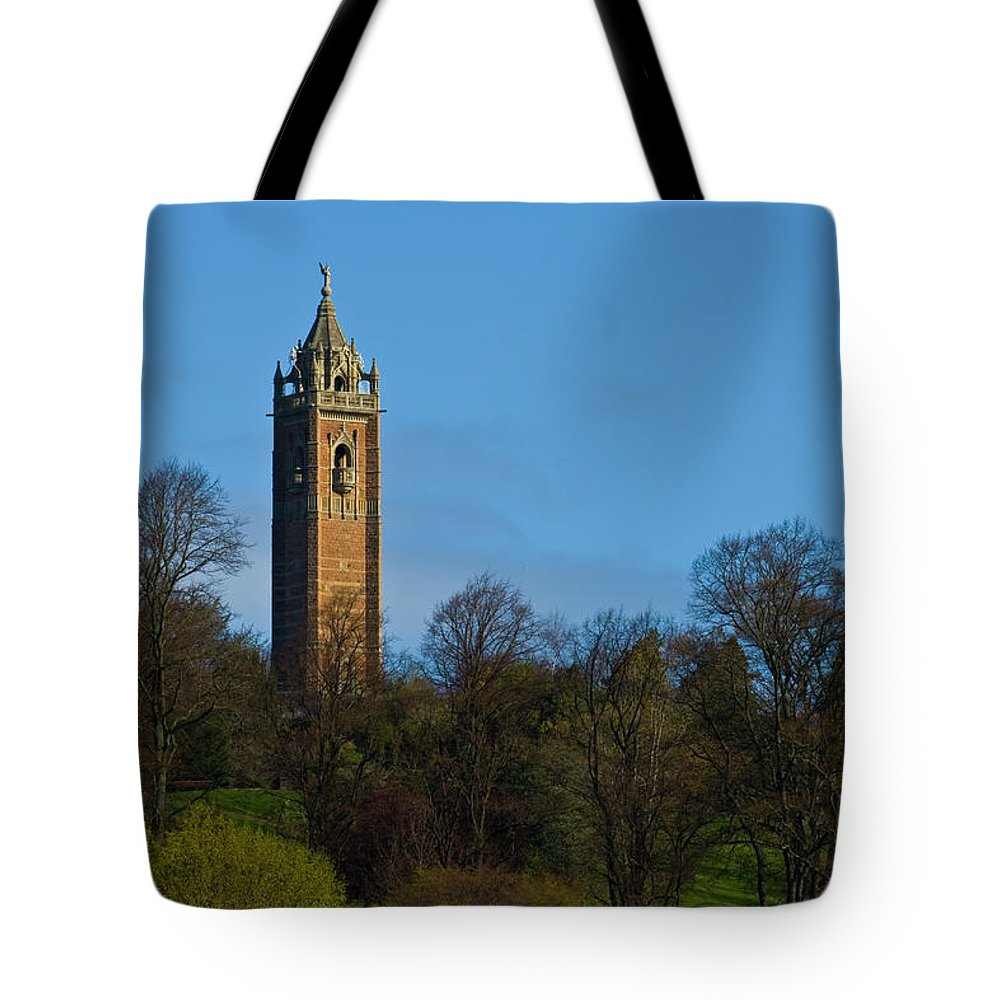 John Cabot Tower Tote Bag featuring the photograph John Cabot Tower by Brian Roscorla