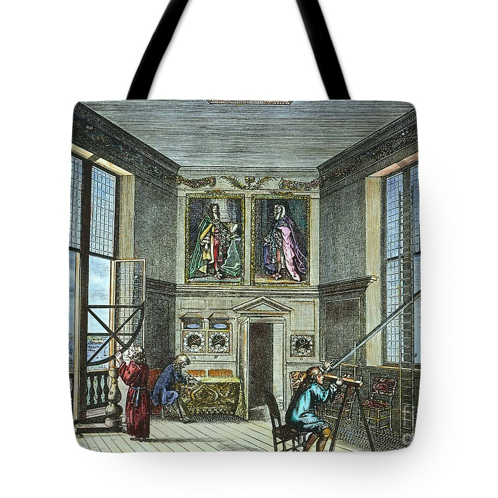 Astronomer Tote Bag featuring the photograph John Flamsteed, C. 1700 by Granger