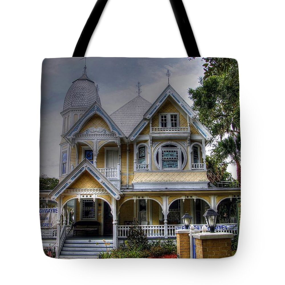 Masonic Temple Lodge Tote Bag featuring the photograph John P. Donnelly House by James Markey