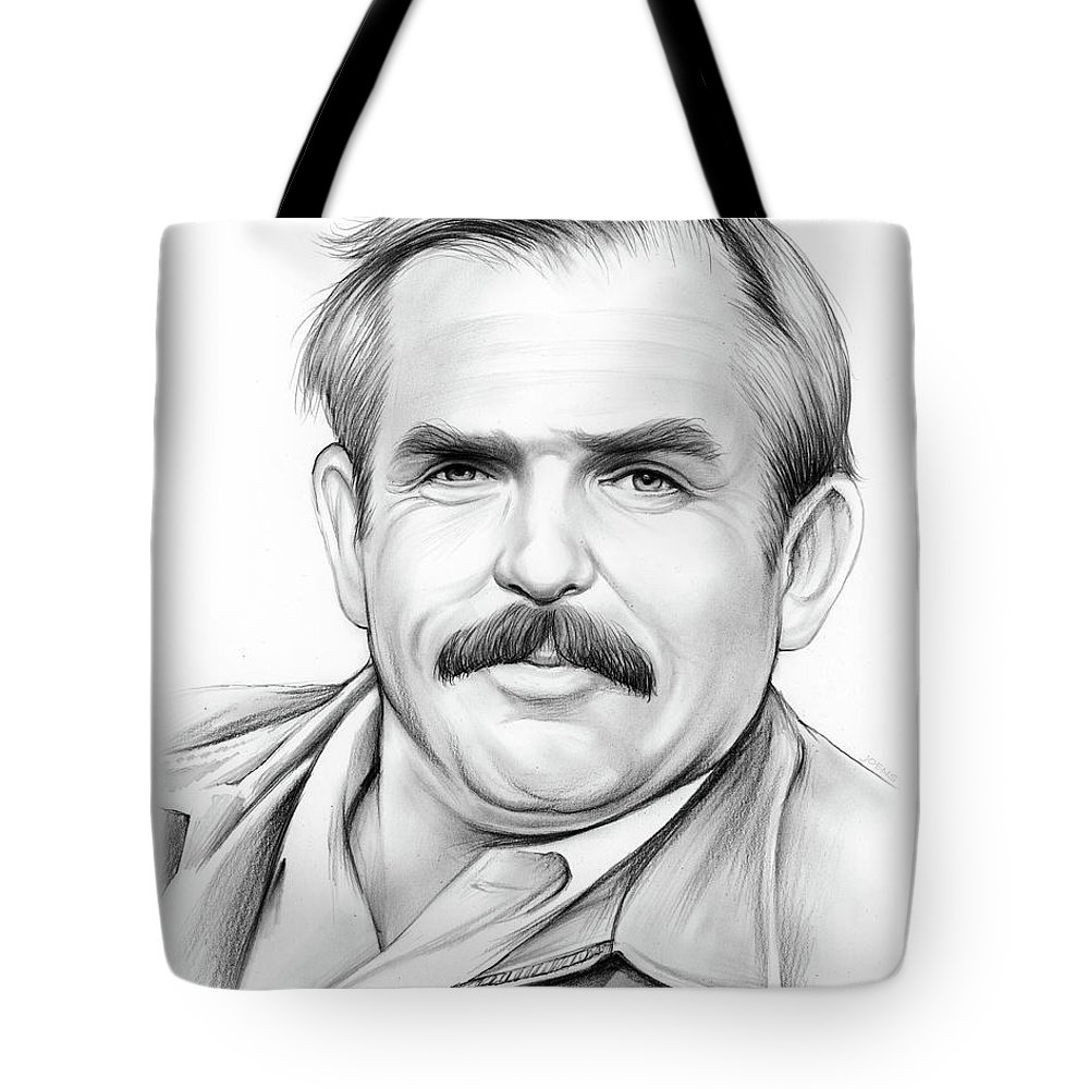 John Ratzenberger Tote Bag featuring the drawing John Ratzenberger by Greg Joens