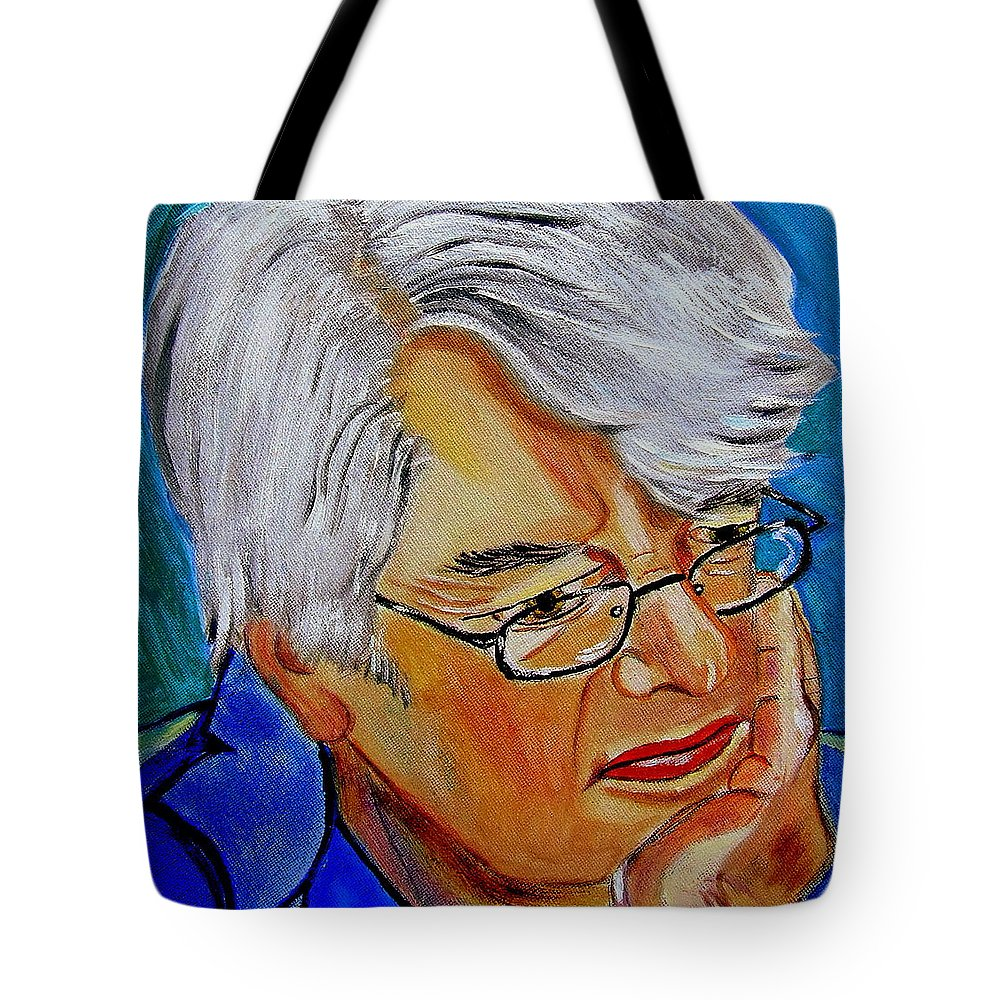 People Tote Bag featuring the painting John Sothcott Our Mutual Friend by Rusty Gladdish