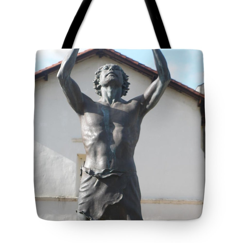 Statues Tote Bag featuring the photograph John The Babtist by Jeanie Watson