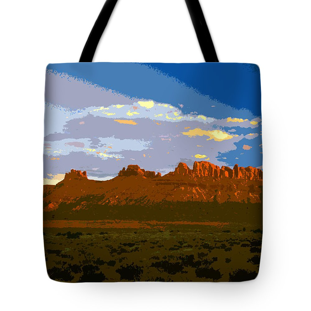Landscape Tote Bag featuring the painting John Wayne Country by David Lee Thompson