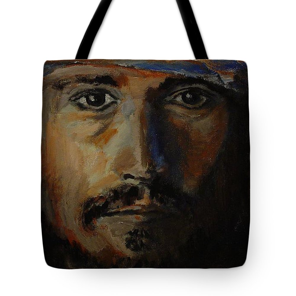 Johnny Depp Tote Bag featuring the painting Johnny Depp Savvy by Regina Brandt