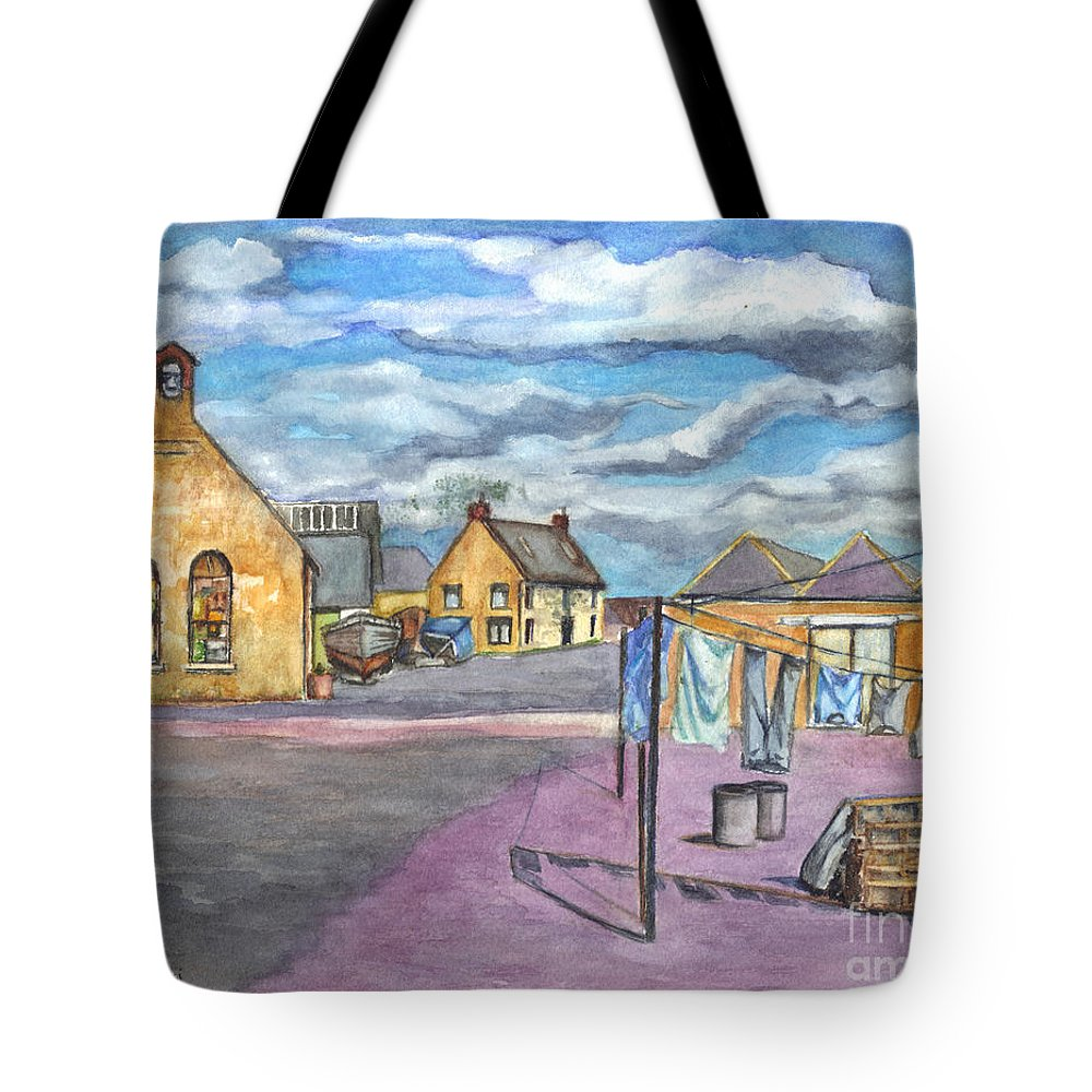 Scotland Tote Bag featuring the painting Johnshaven Scotland by Carol Wisniewski