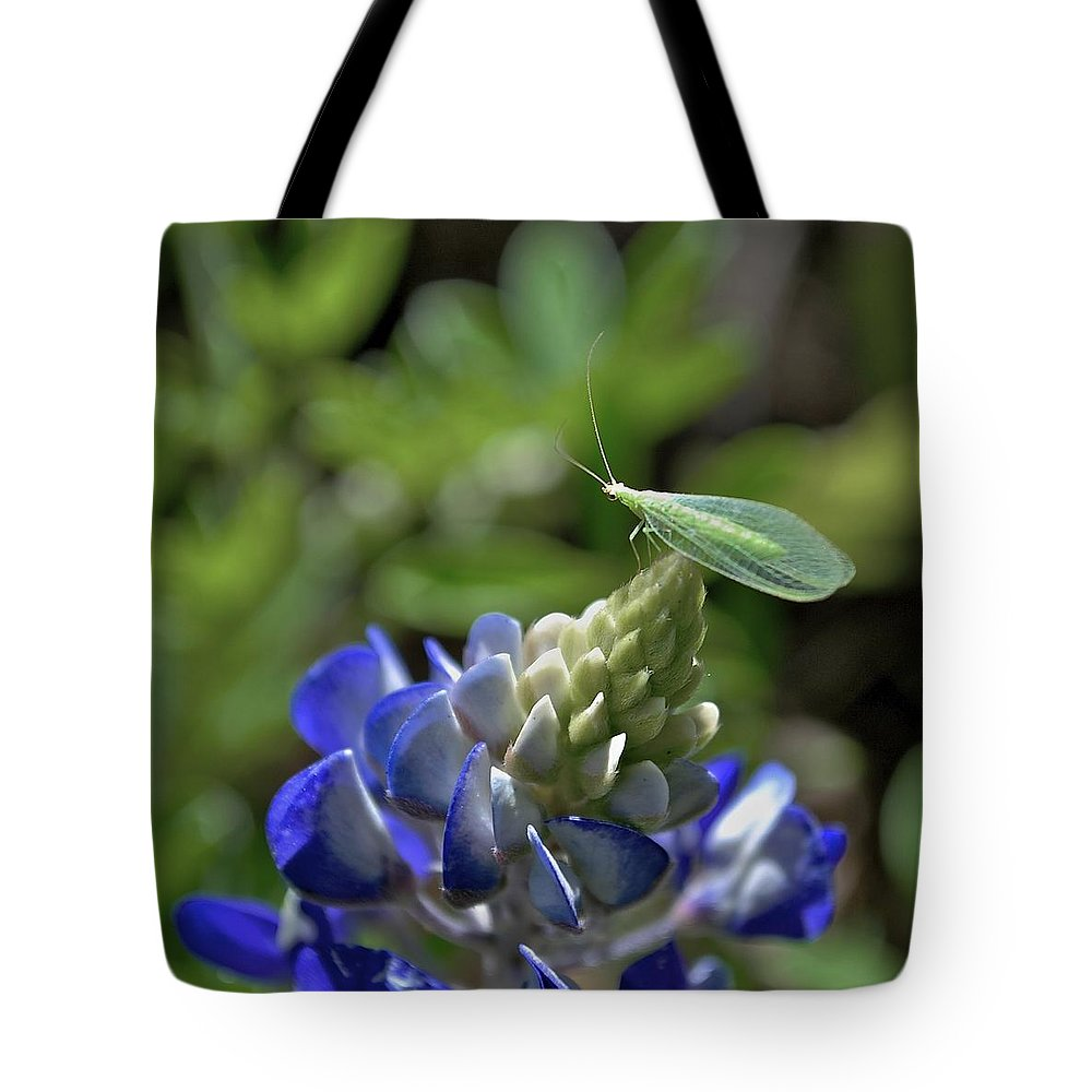 Bluebonnets Tote Bag featuring the photograph Jolly Green Giant by Donna Shahan