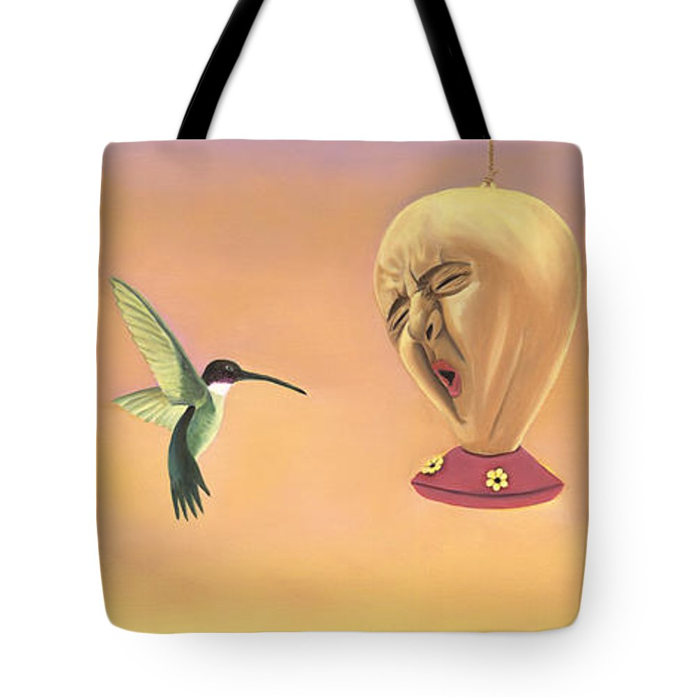 Faces In Unusual Places Tote Bag featuring the painting Joshua by Sandi Snead