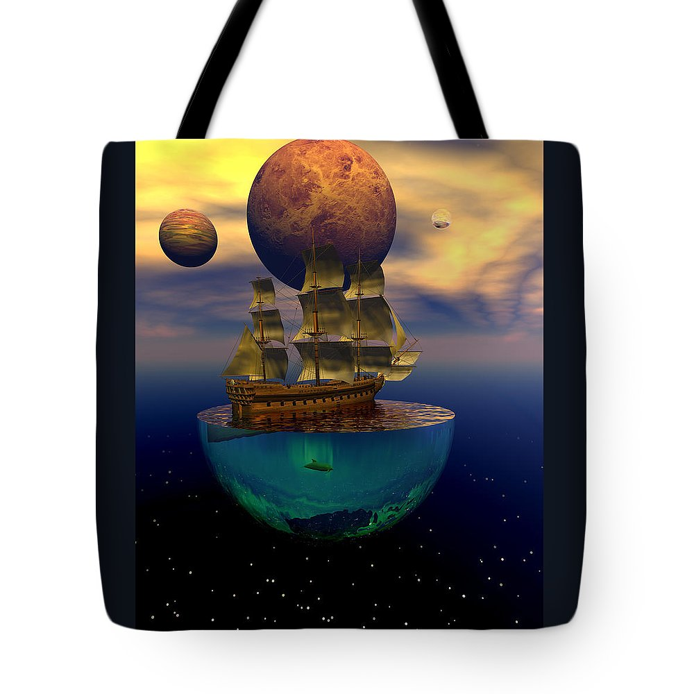 Bryce Tote Bag featuring the digital art Journey Into Imagination by Claude McCoy