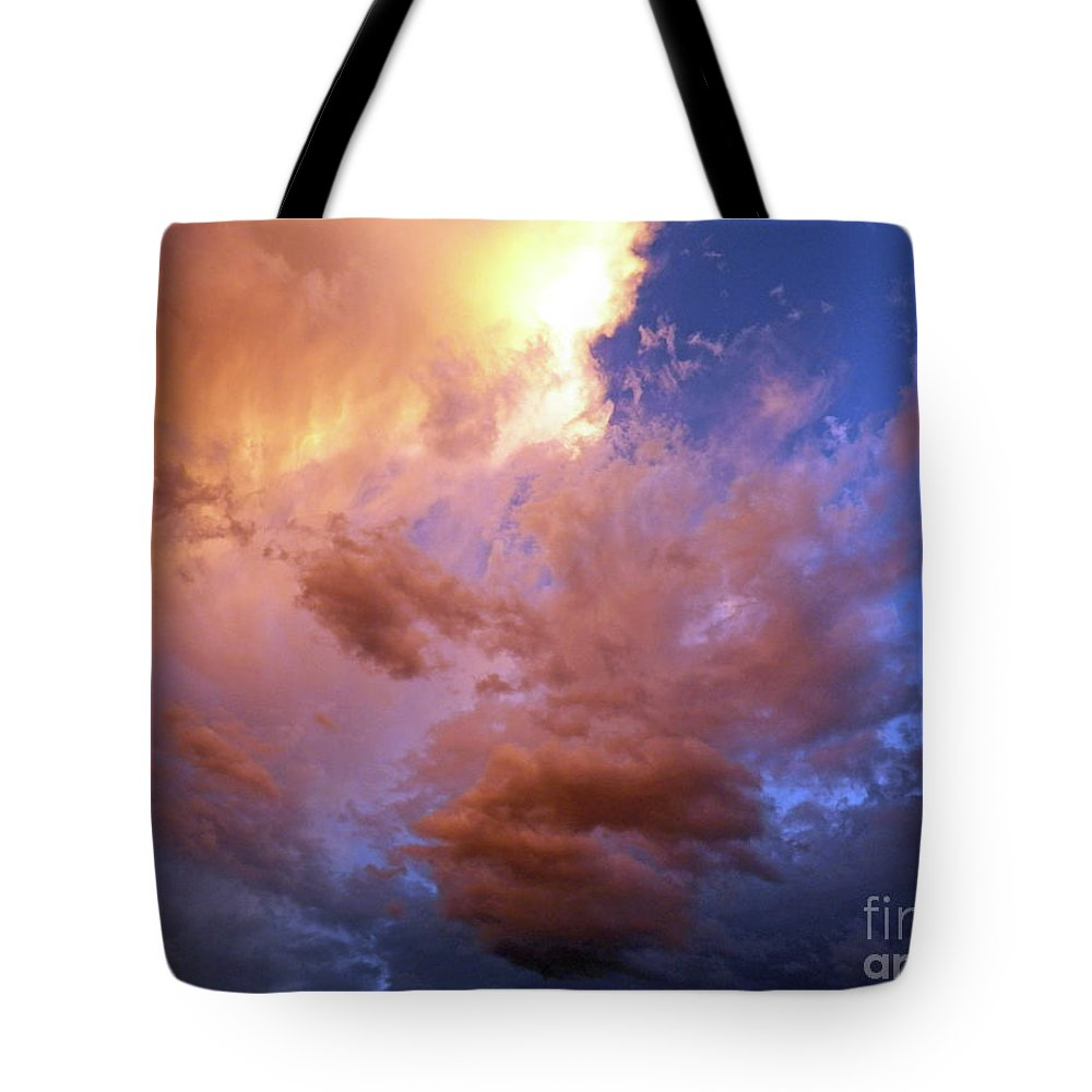 Sky Tote Bag featuring the painting Journey Inward by Brian Commerford