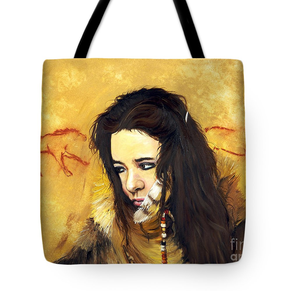 Southwest Art Tote Bag featuring the painting Journey by J W Baker