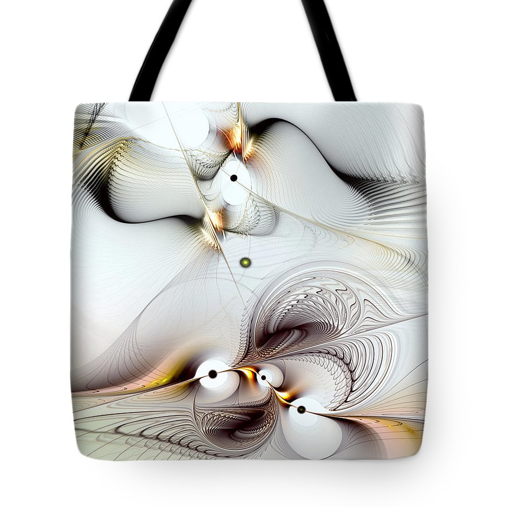 Abstract Tote Bag featuring the digital art Journey To Ecstasy by Casey Kotas