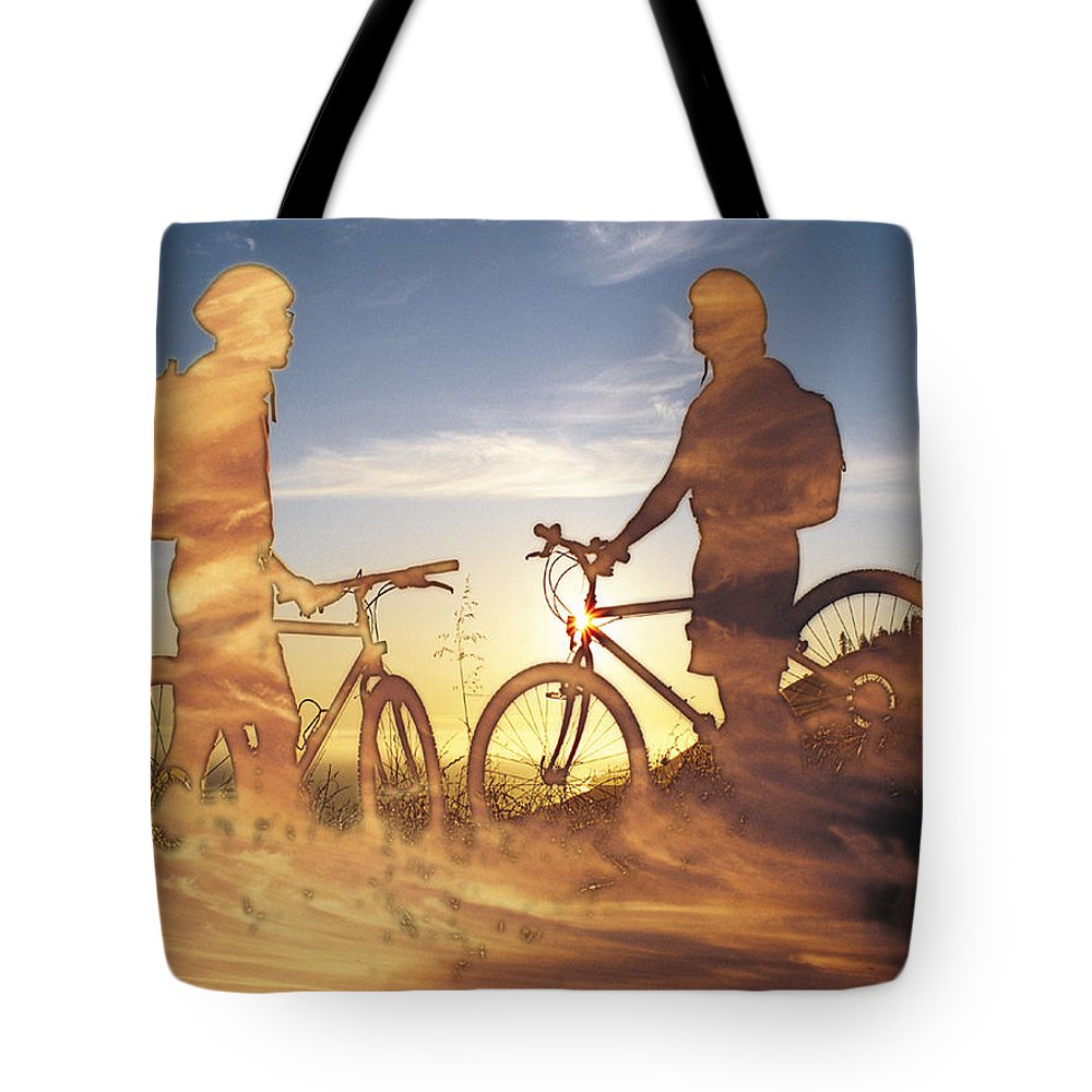 Clouds Tote Bag featuring the photograph Journeys End by Tim Allen