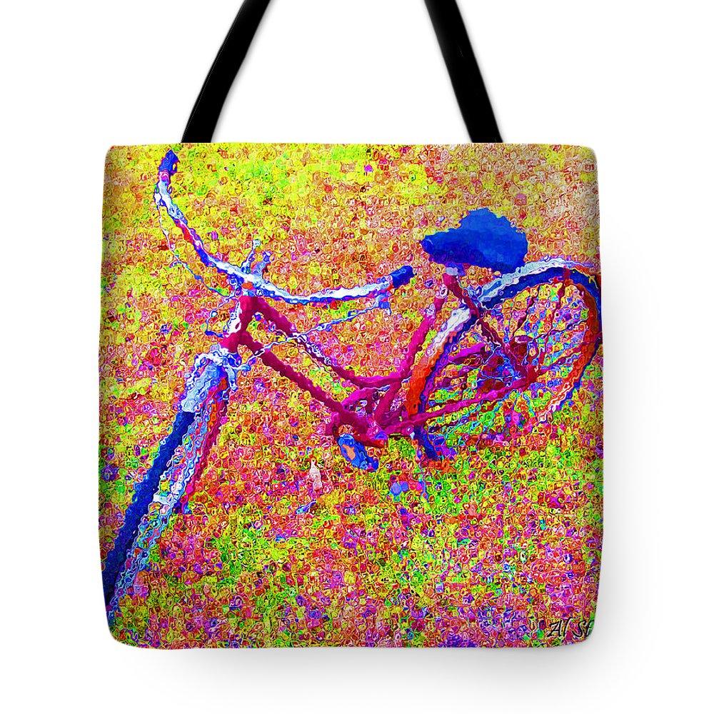 Bike Tote Bag featuring the photograph Joy, The Bike Ride by Albert Stewart