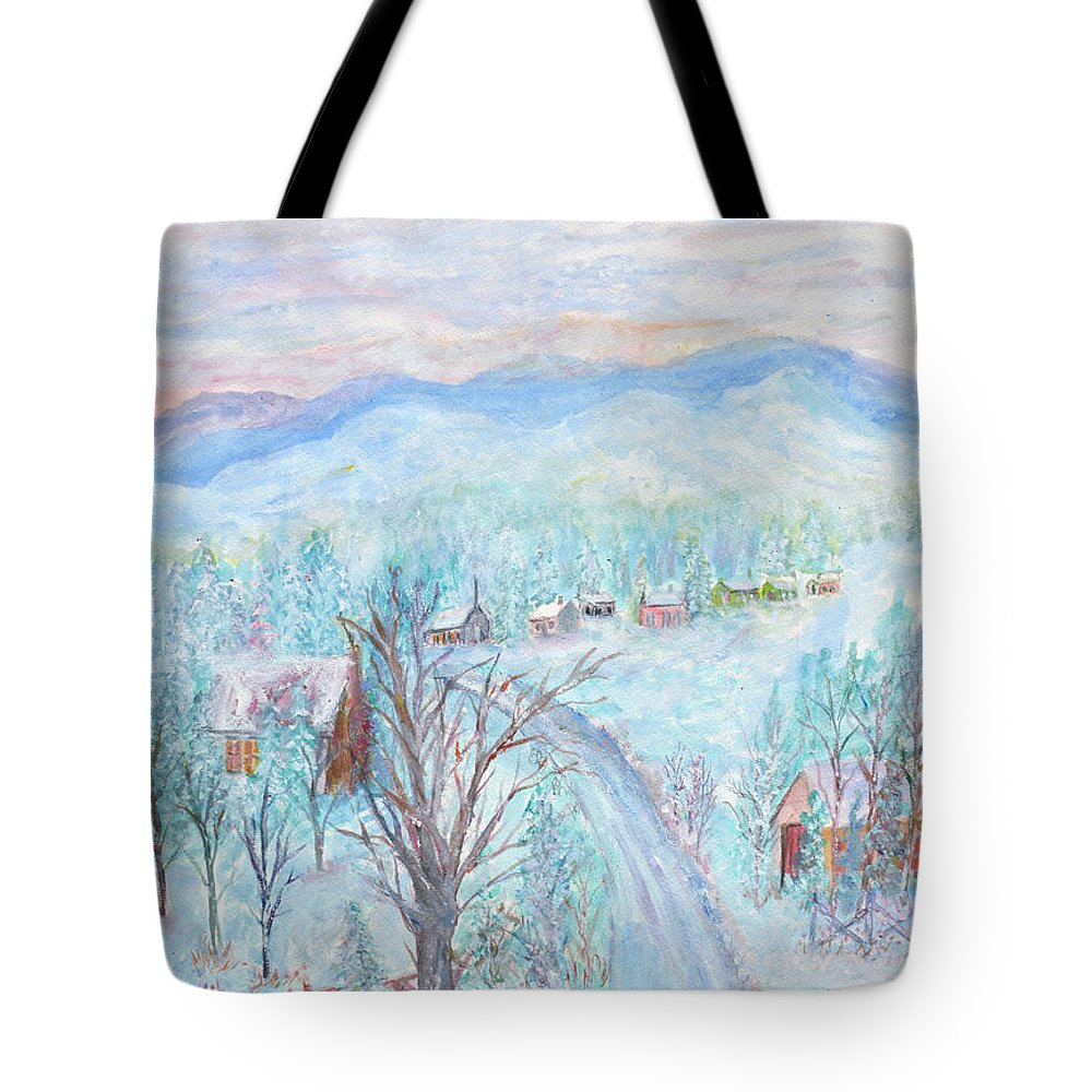 Winter Tote Bag featuring the painting Joy of Winter by Ben Kiger