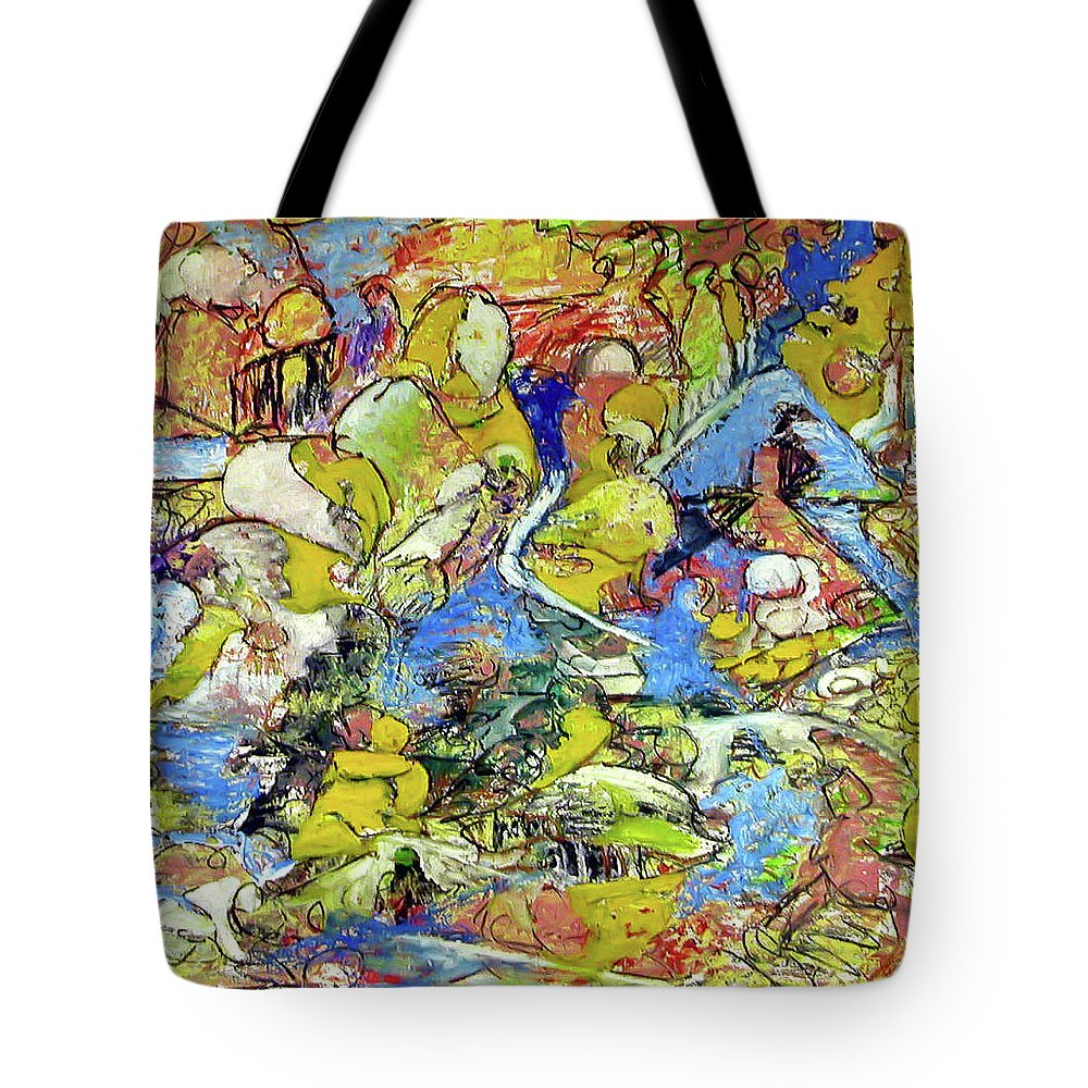 Abstract Imagination Tote Bag featuring the painting Joy by Robert Gravelin