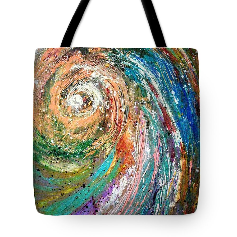 Spinning Colors Tote Bag featuring the painting Joy by Valerie Josi