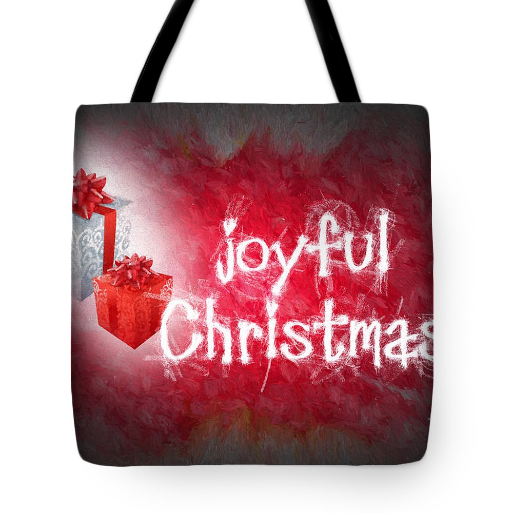 Joyful christmas card tote bag for sale by ezeepics