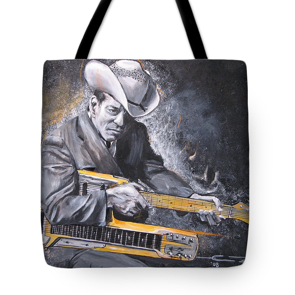 Jr. Brown Tote Bag featuring the painting Jr. Brown by Eric Dee