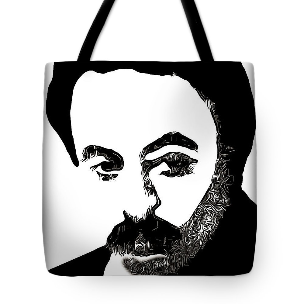 Jubran Khalil Jubran Tote Bag featuring the photograph Jubran Khalil Jubran by Munir Alawi