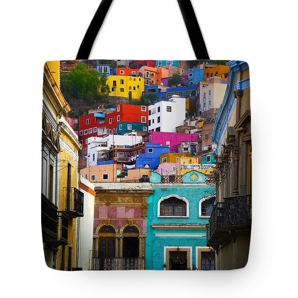 Architecture Tote Bag featuring the photograph Juegos In Guanajuato by Skip Hunt