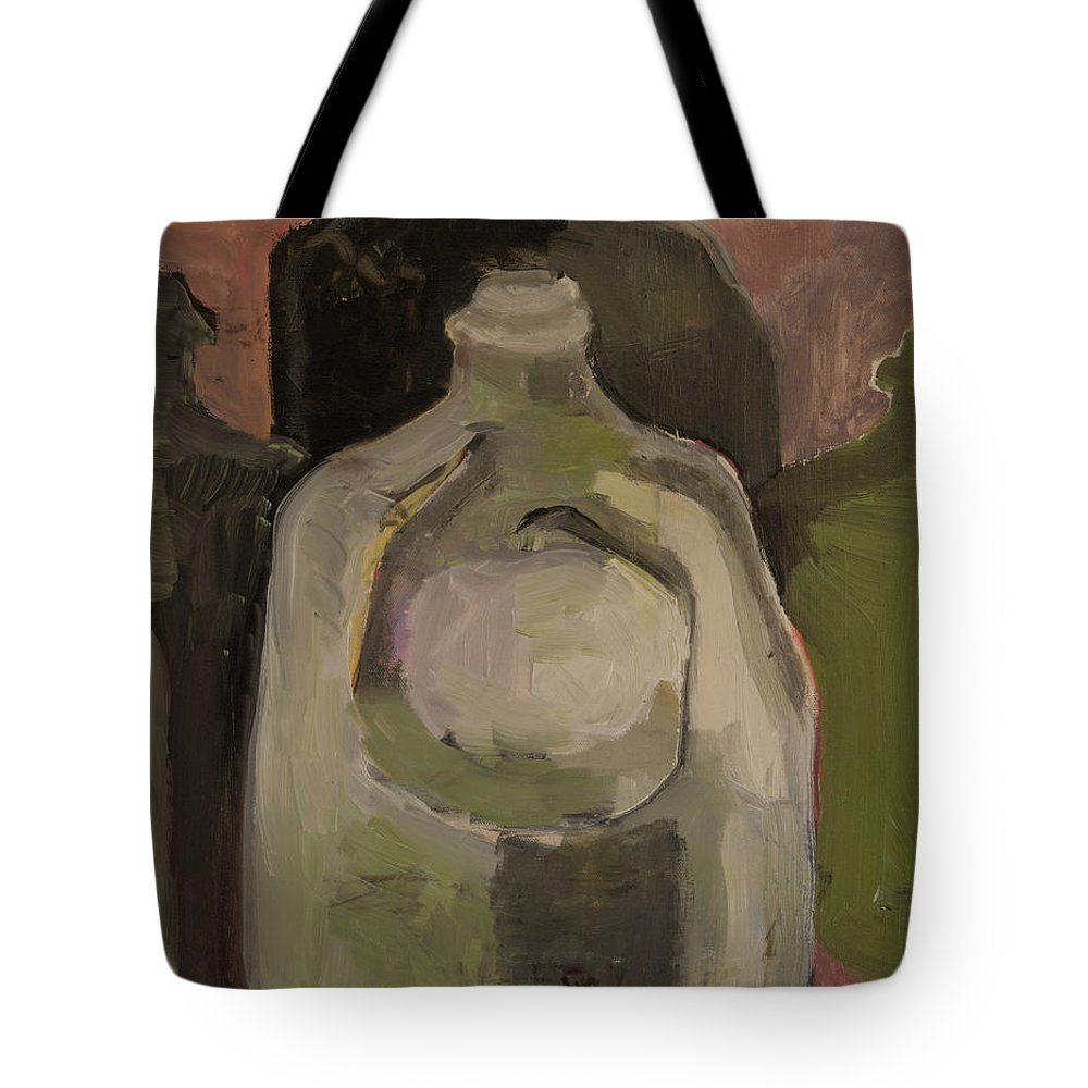 Jug Tote Bag featuring the painting Jug Clan by Craig Newland