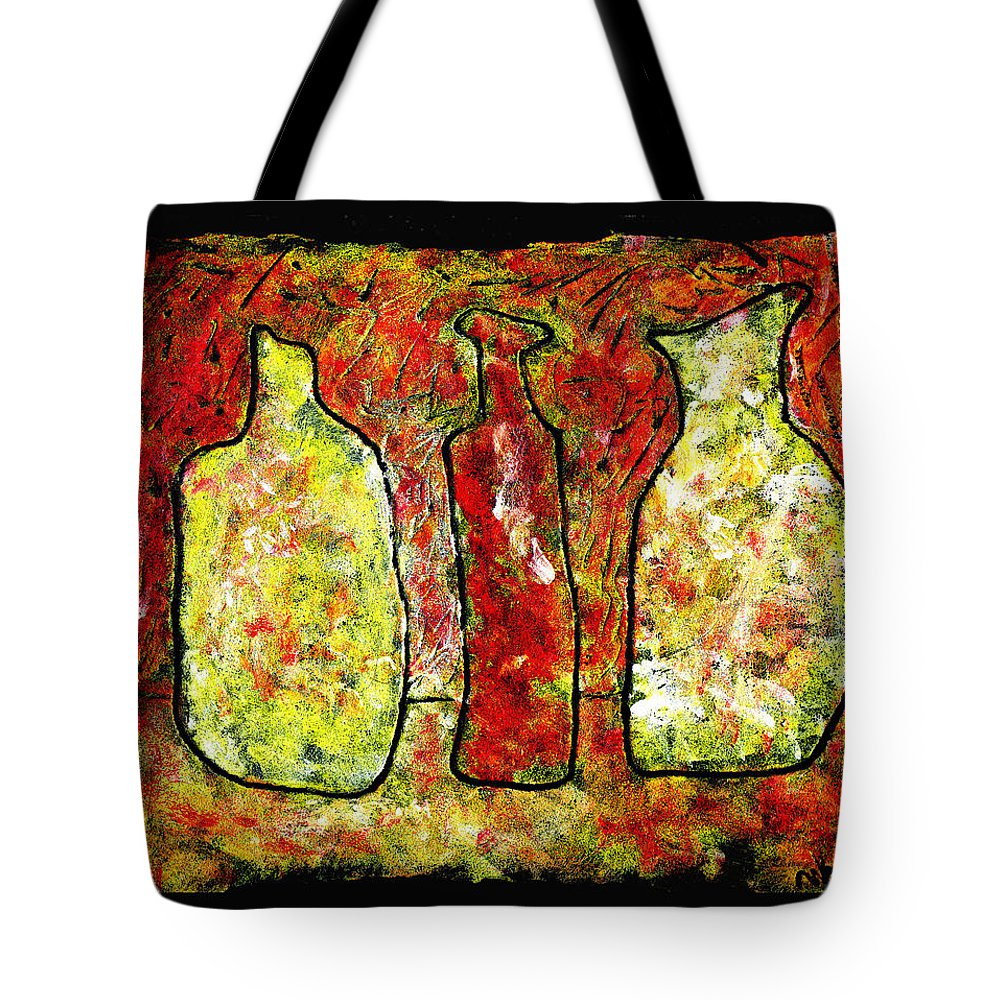 Jugs Tote Bag featuring the painting Jugs by Wayne Potrafka