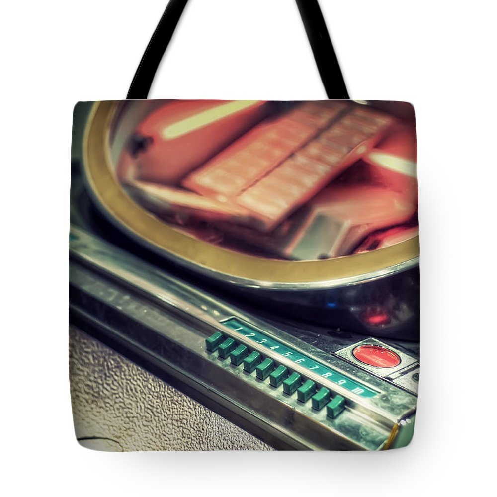 Jukebox Tote Bag featuring the photograph Jukebox by Scott Norris