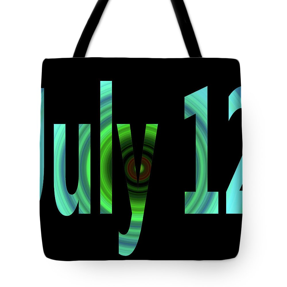 July Tote Bag featuring the digital art July 12 by Day Williams