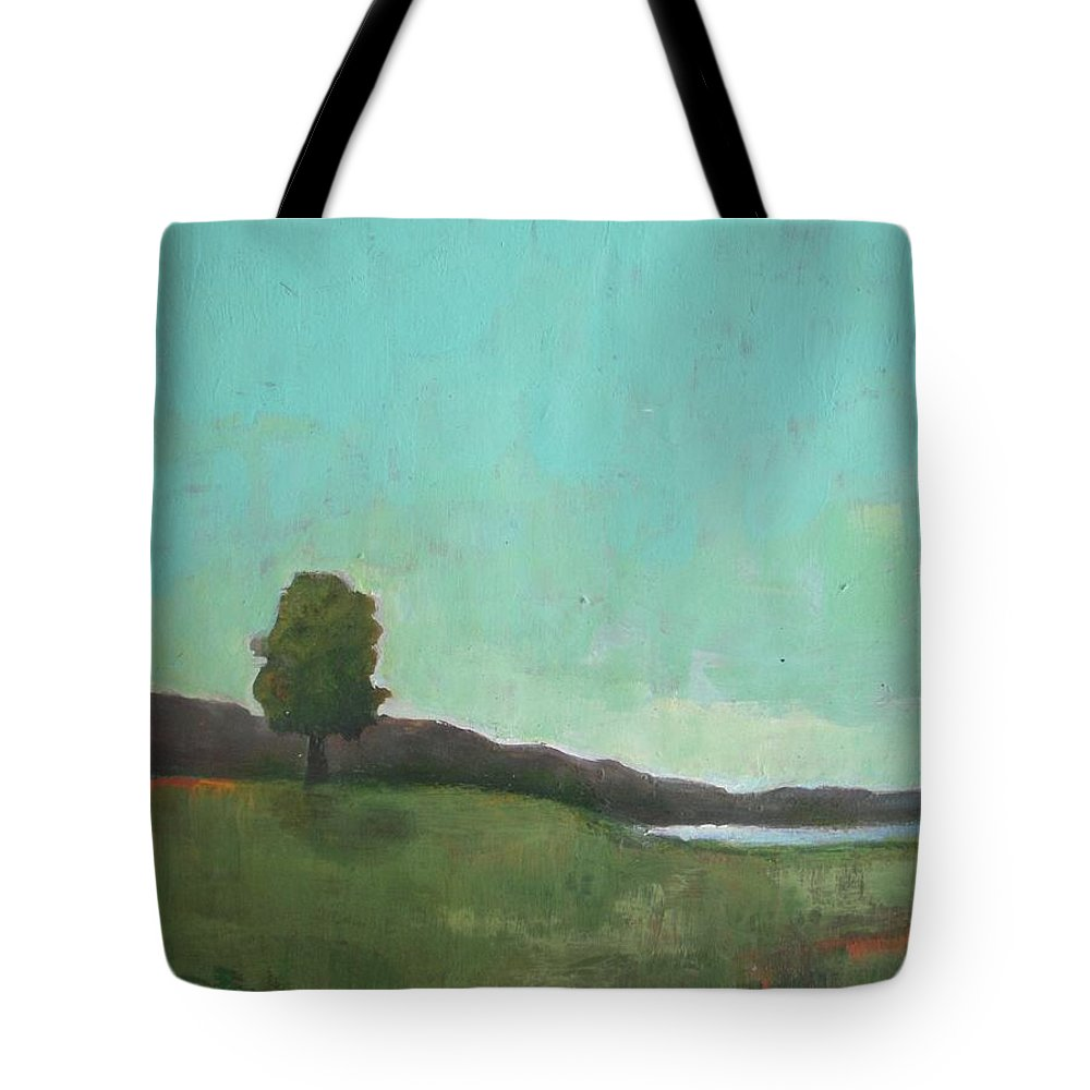 Landscape Tote Bag featuring the painting July 1988 by Vesna Antic