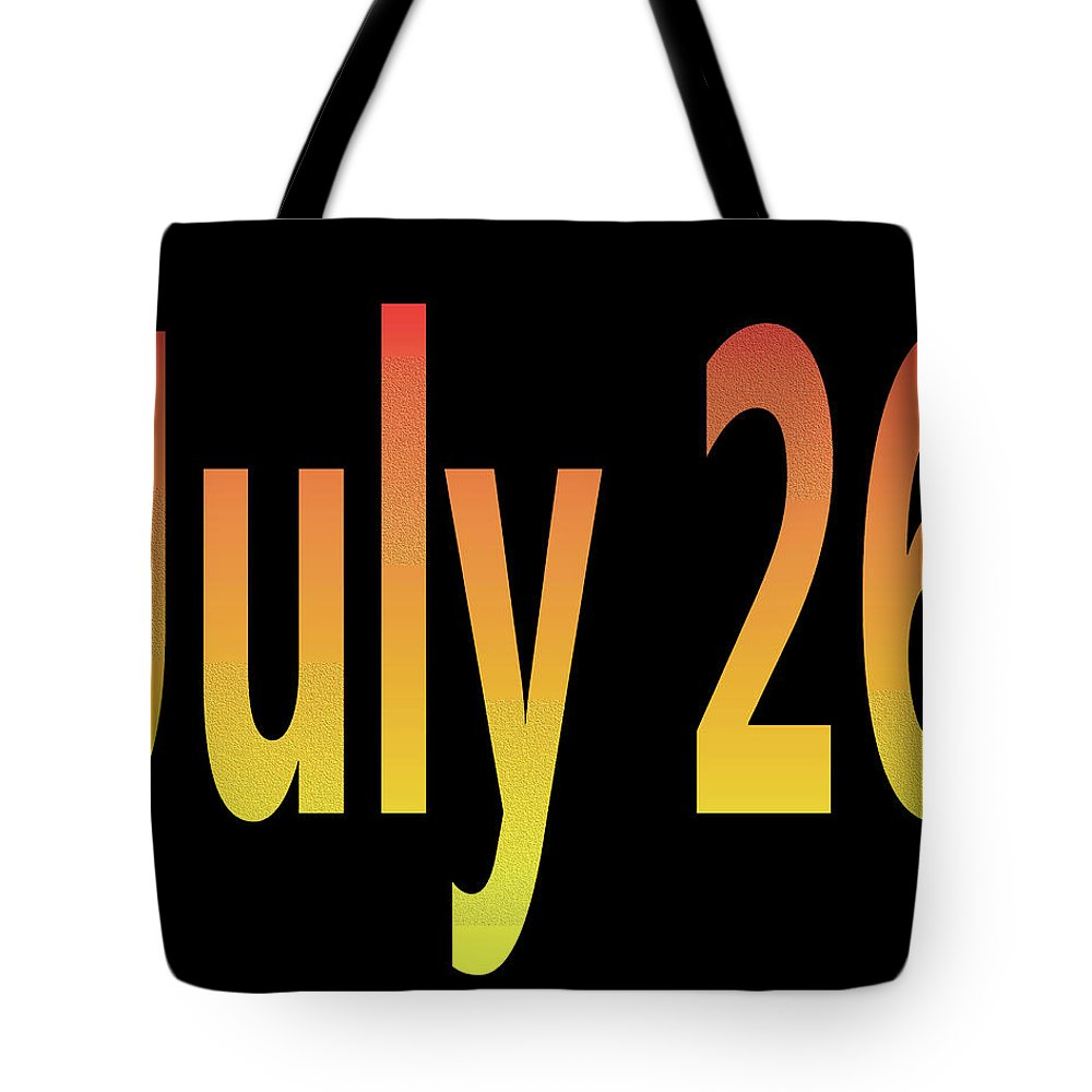 July Tote Bag featuring the digital art July 26 by Day Williams