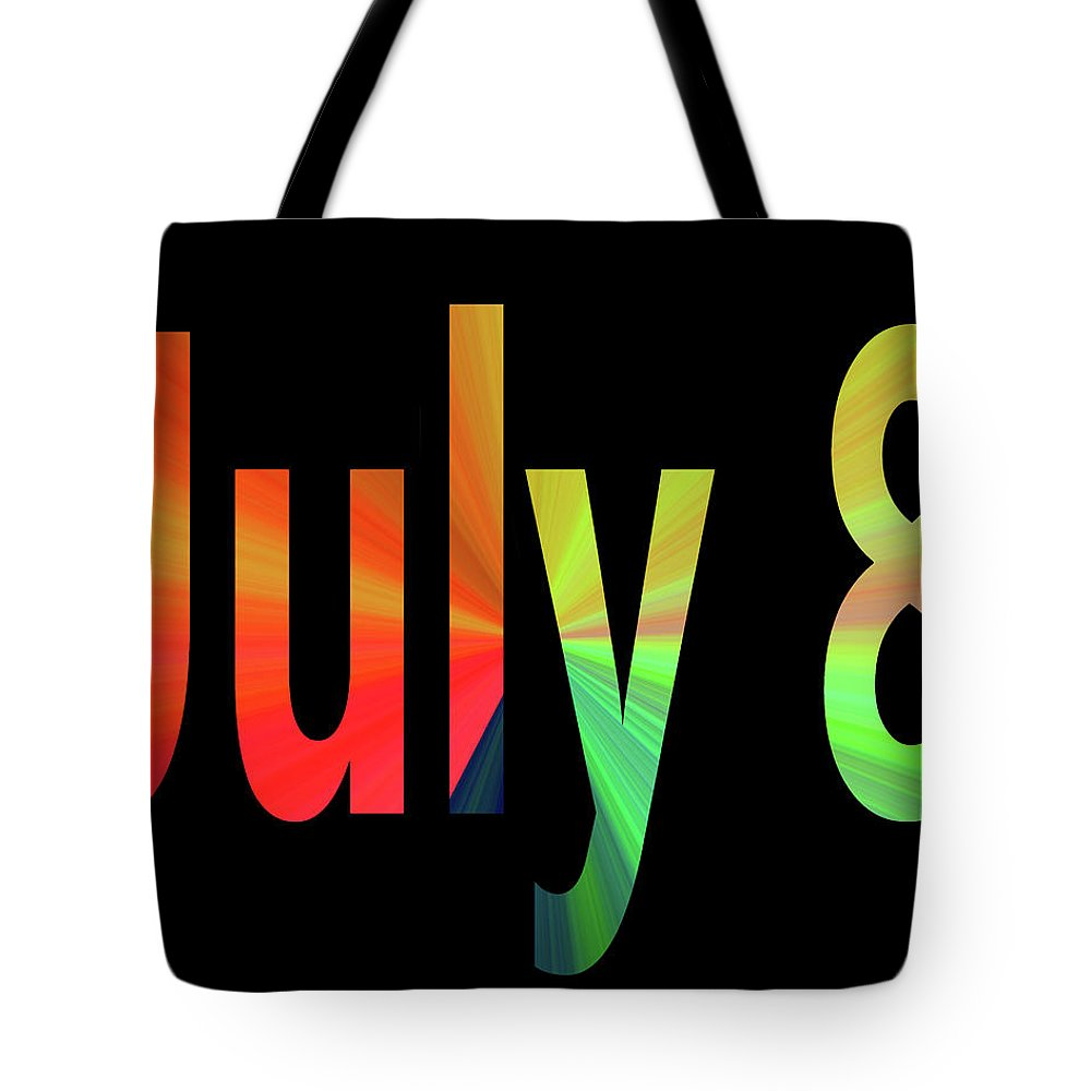July Tote Bag featuring the digital art July 8 by Day Williams
