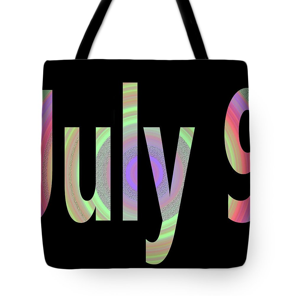 July Tote Bag featuring the digital art July 9 by Day Williams