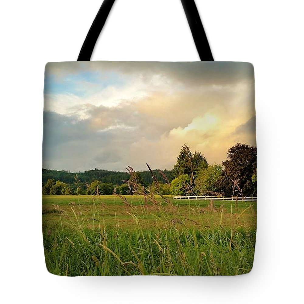 Landscape Tote Bag featuring the photograph Sunset After Storm by Jane Powell