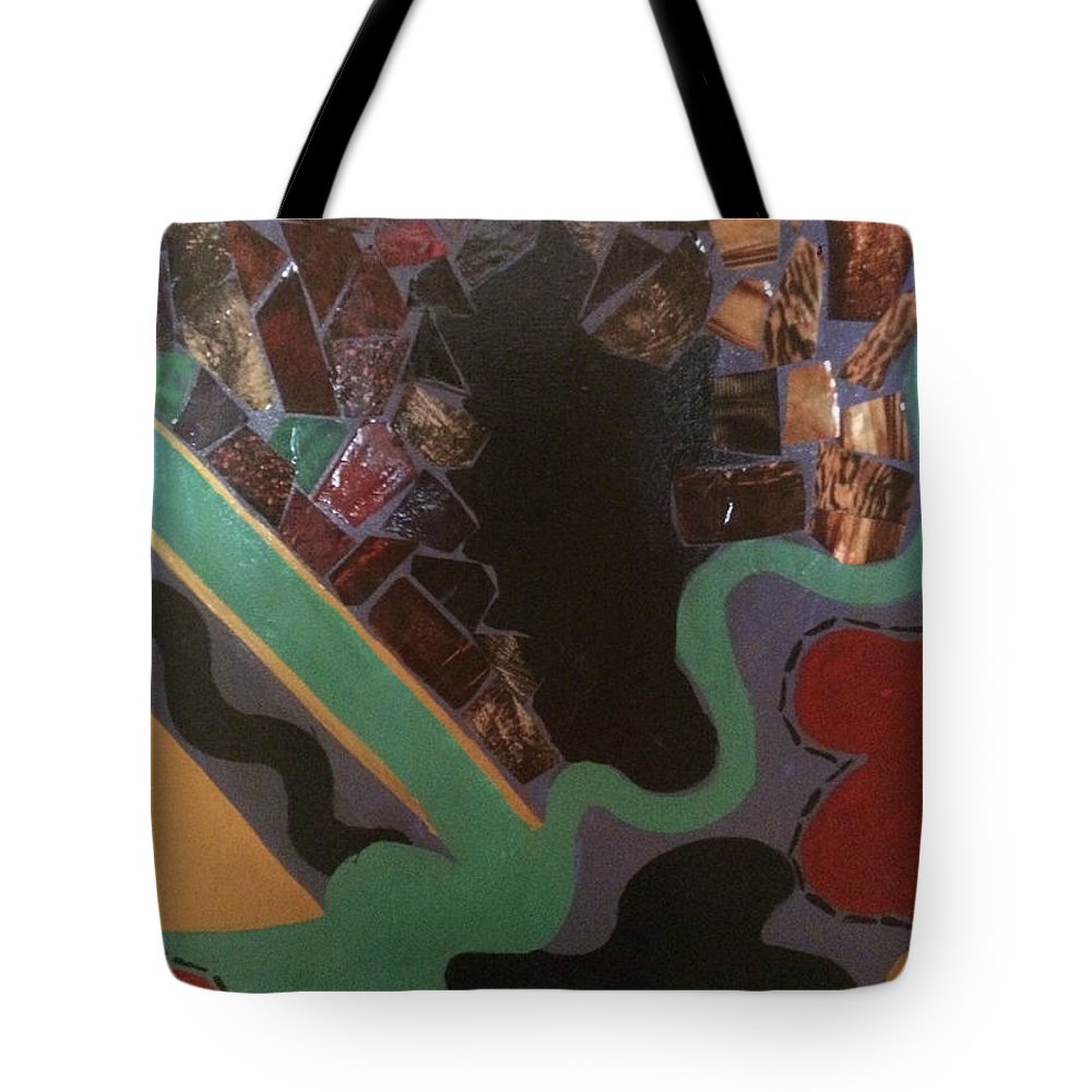 Tote Bag featuring the painting Jumbled by Cynthia Williams