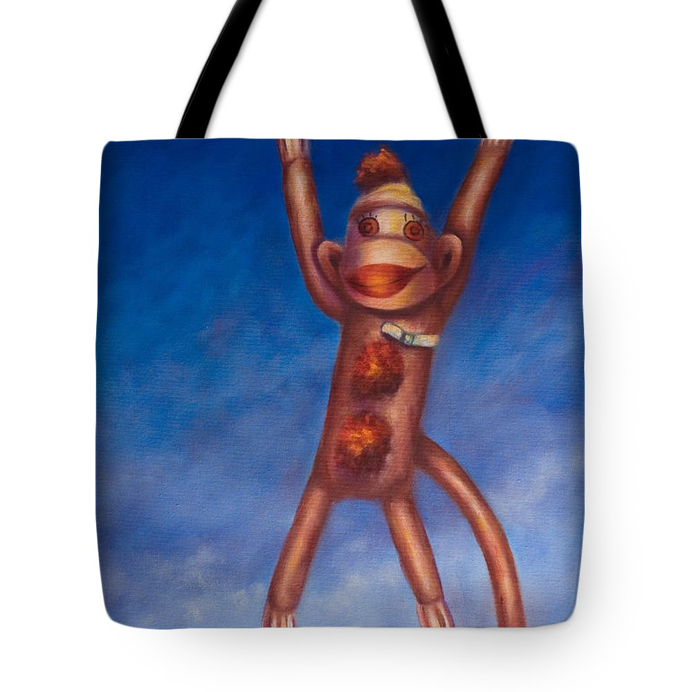 Children Tote Bag featuring the painting Jump For Joy by Shannon Grissom