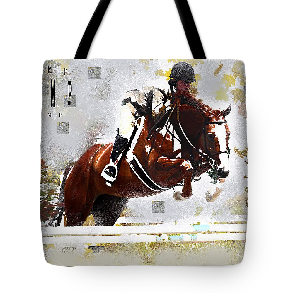 Jenny Gandert Tote Bag featuring the digital art Jump by Jenny Gandert