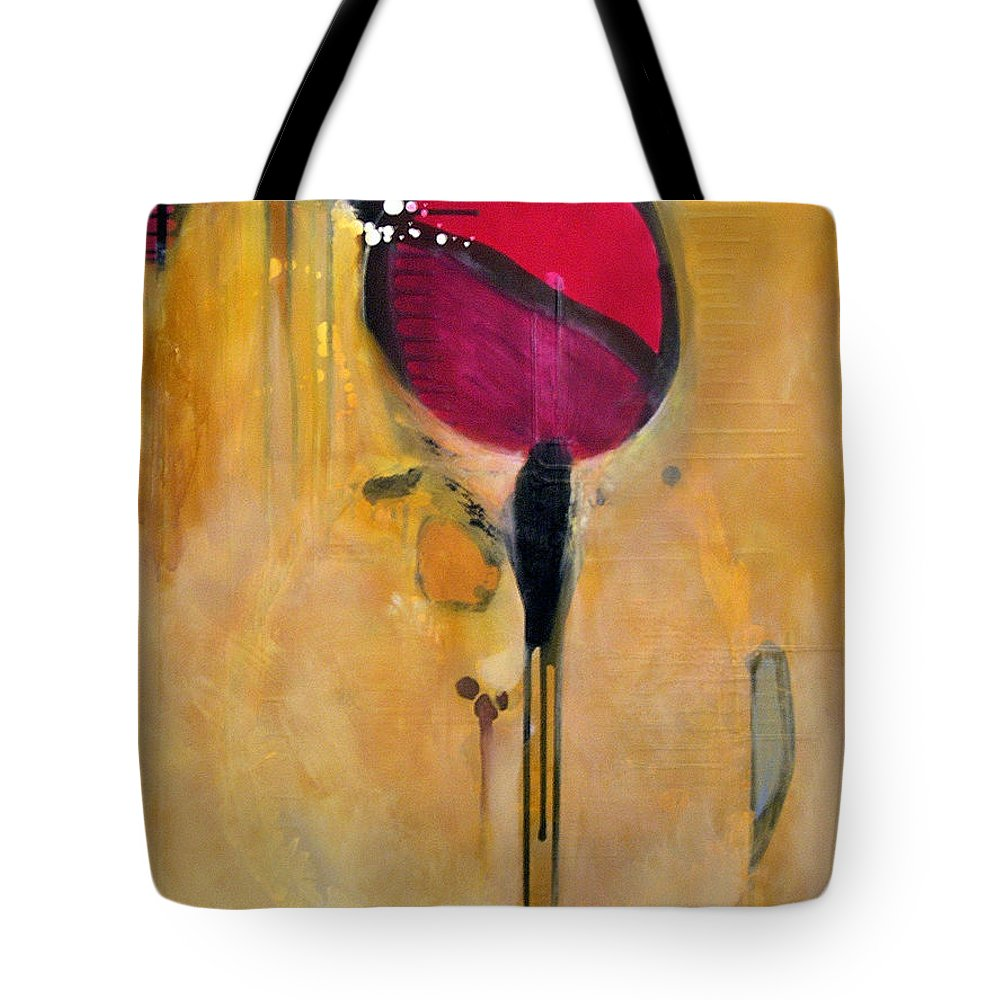 Abstract Tote Bag featuring the painting Jumpin Jehosaphat by Marlene Burns