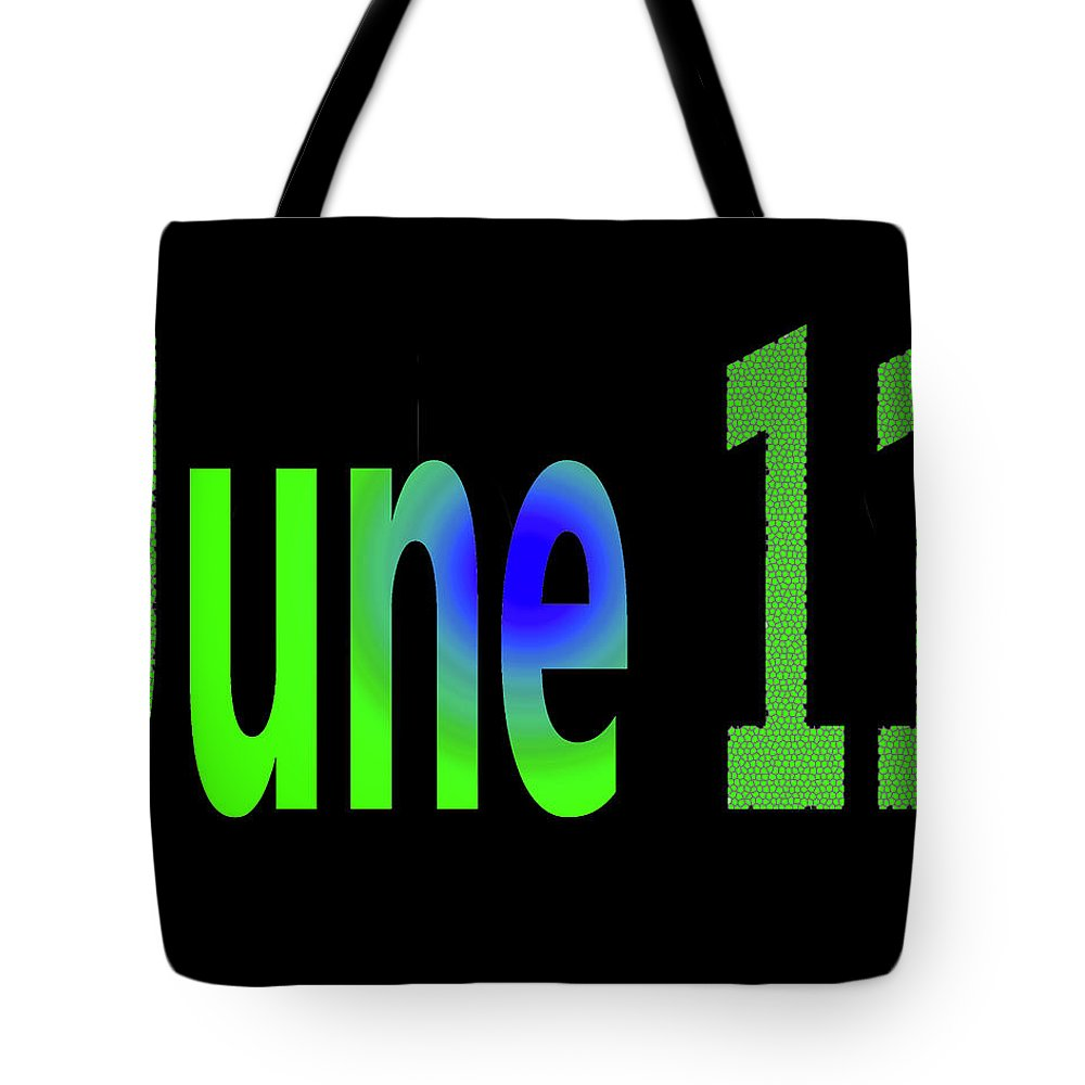 June Tote Bag featuring the digital art June 11 by Day Williams