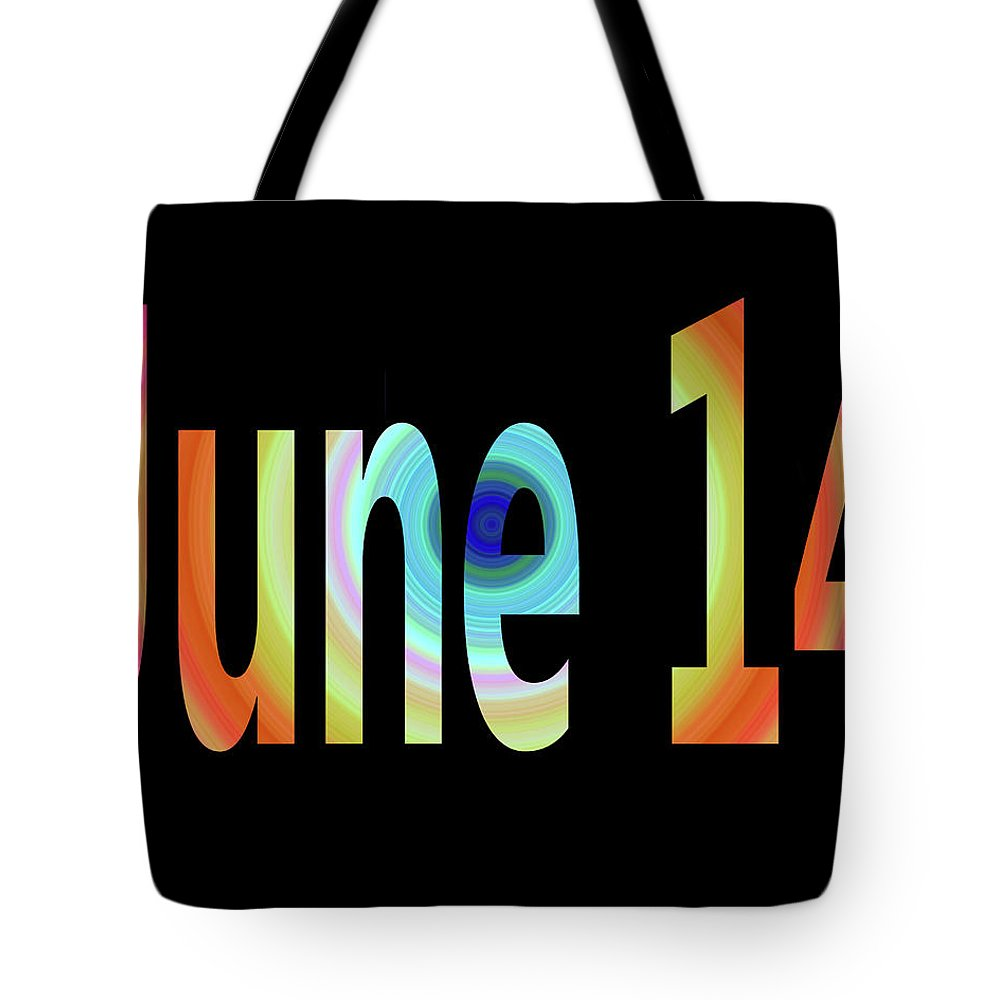 June Tote Bag featuring the digital art June 14 by Day Williams