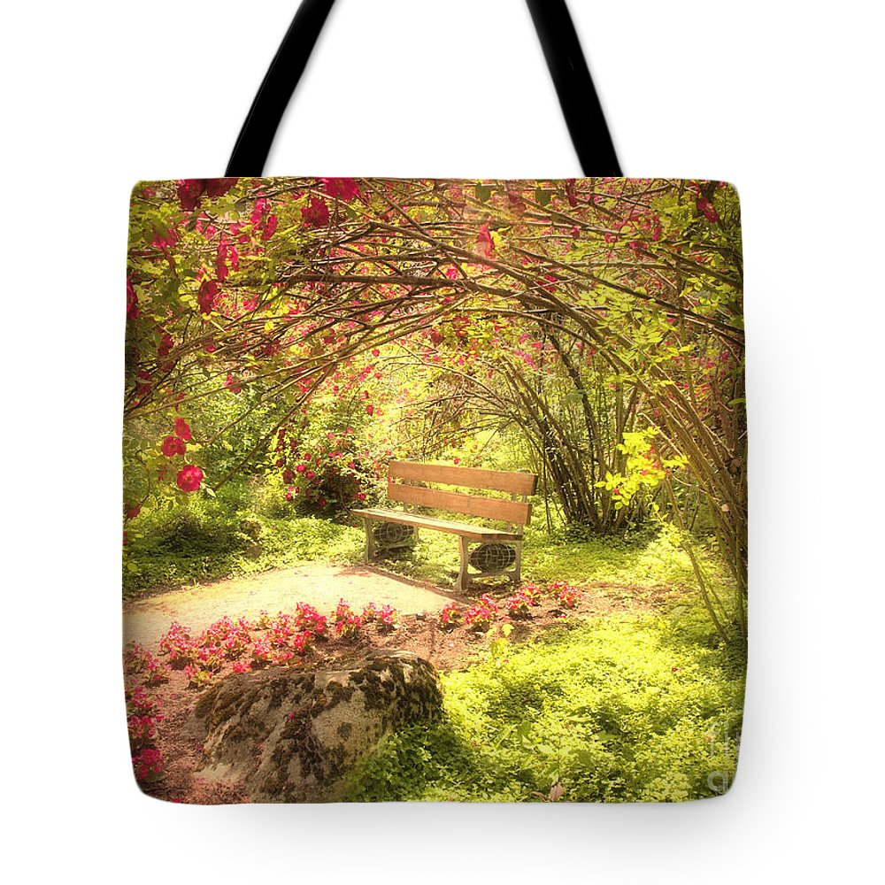Bench Tote Bag featuring the photograph June 20 2010 by Tara Turner
