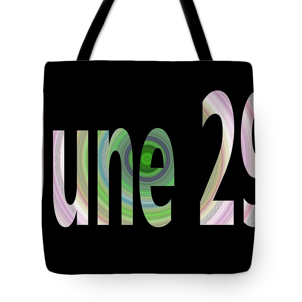 June Tote Bag featuring the digital art June 29 by Day Williams