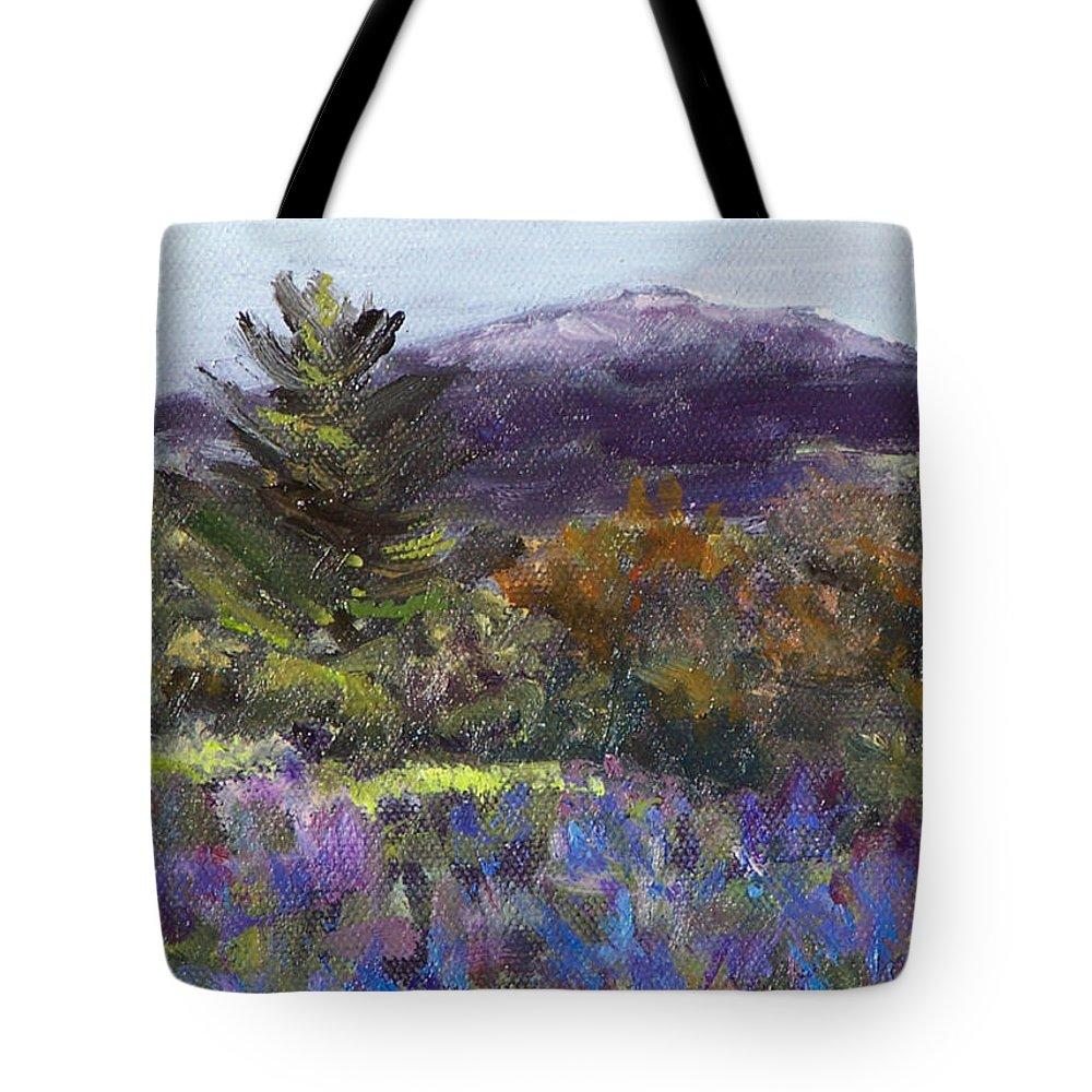 Original Oil Tote Bag featuring the painting June Carpet by Alicia Drakiotes
