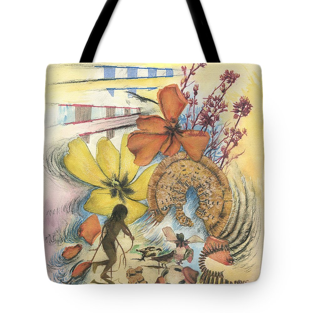Abstract Tote Bag featuring the digital art June by Valerie Meotti
