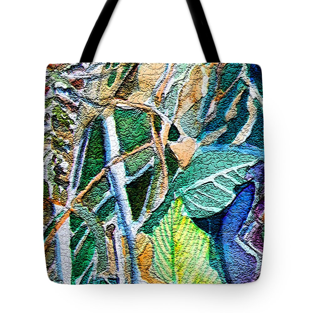 Jungle Tote Bag featuring the painting Jungle Heat by Mindy Newman
