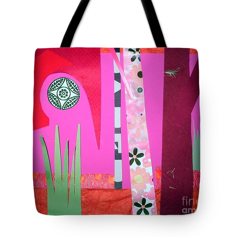 Landscape Tote Bag featuring the mixed media Jungle Temple by Debra Bretton Robinson