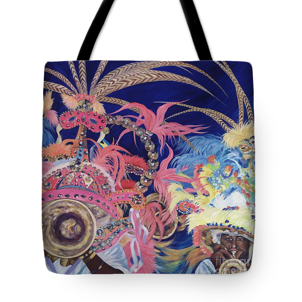 Bahamas Tote Bag featuring the painting Junkanoo by Danielle Perry